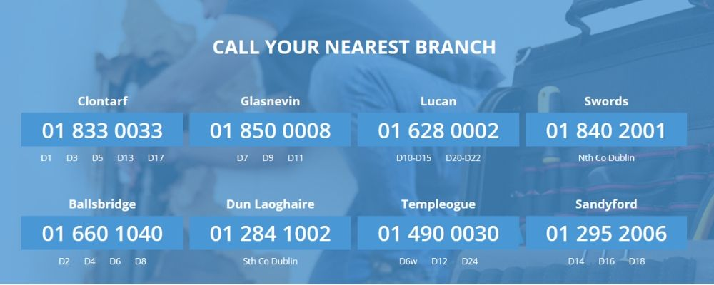 dublin plumbing services branches contact numbers